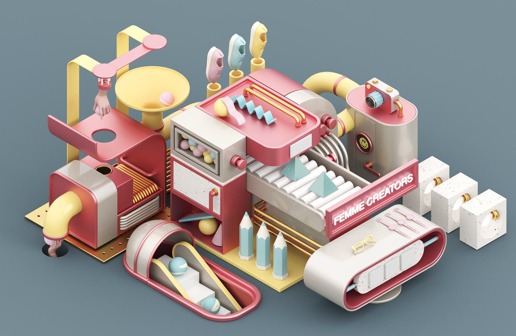 femme_creators_mercado_de_diseño_design_diseño_jorge_gago_cgi_3d